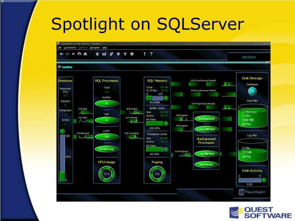 Spotlight on SQLServer