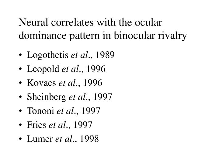 Neural correlates with the ocular dominance pattern in binocular rivalry