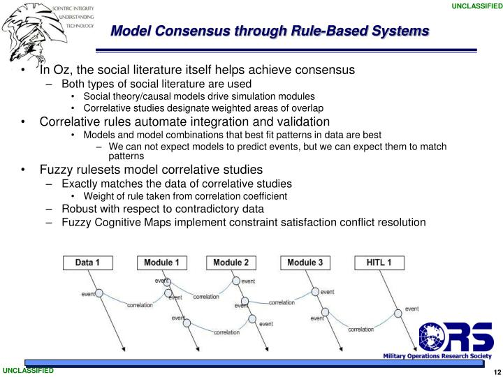 Model Consensus through Rule-Based Systems