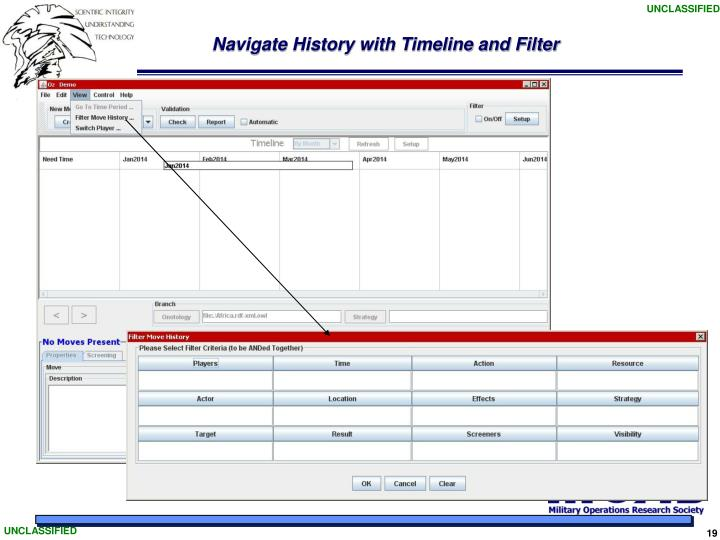 Navigate History with Timeline and Filter