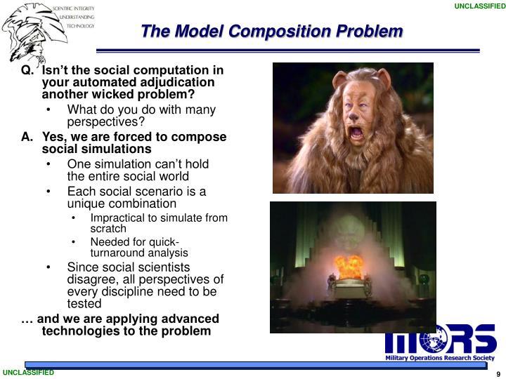 The Model Composition Problem