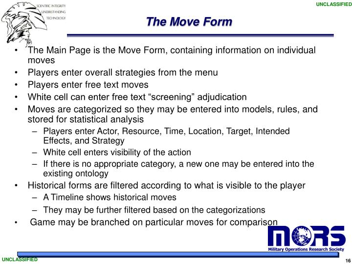 The Move Form