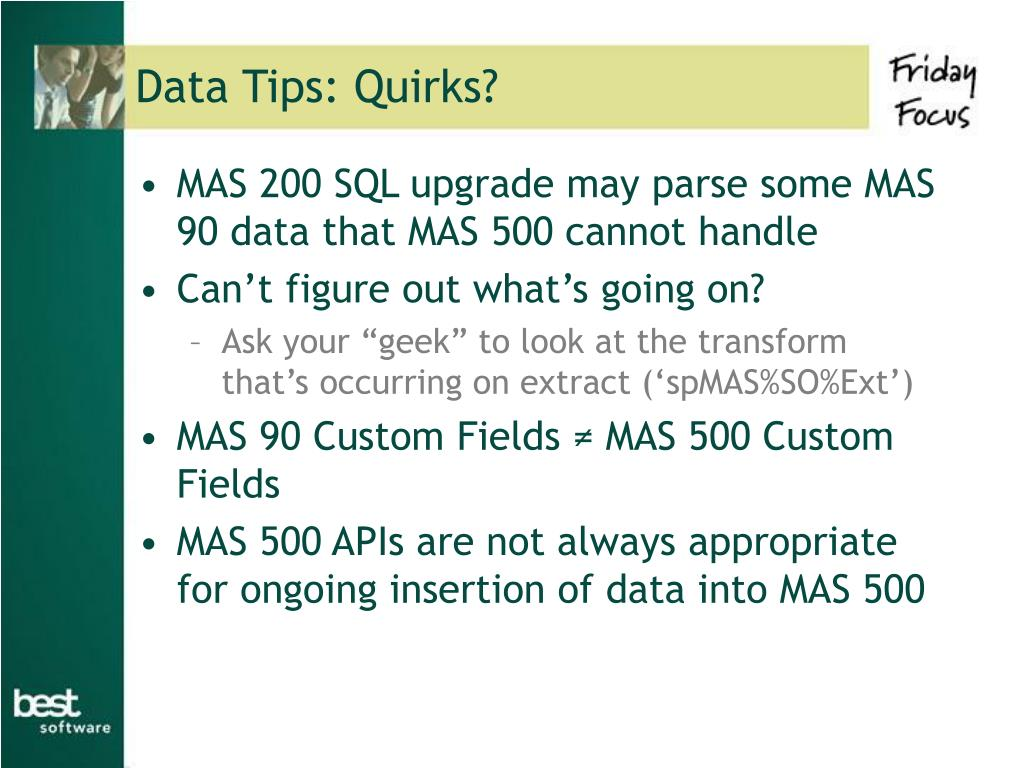 Data Tips: Quirks?