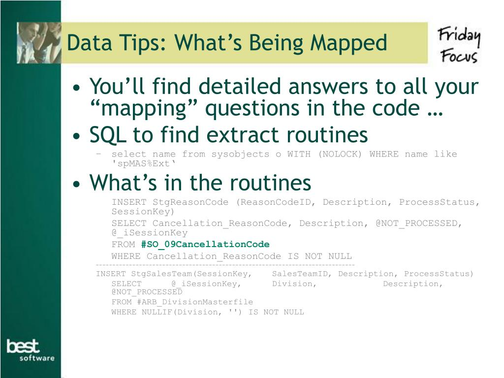 Data Tips: What's Being Mapped