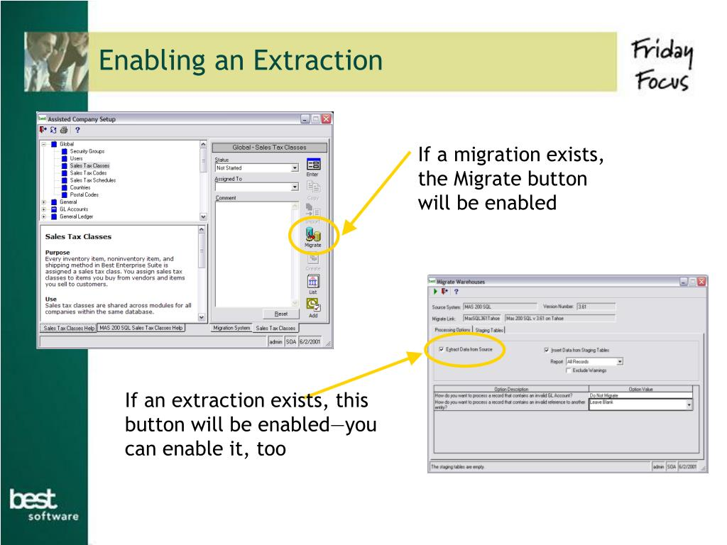 Enabling an Extraction