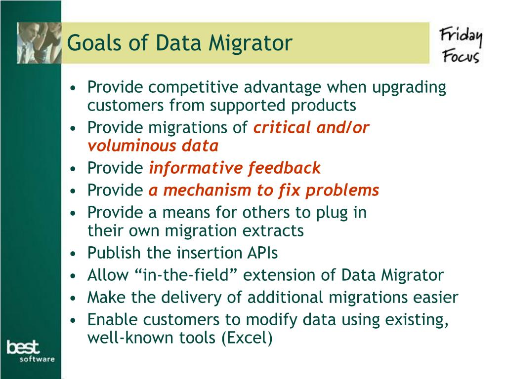 Goals of Data Migrator