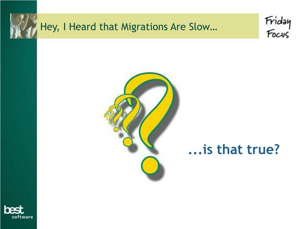 Hey, I Heard that Migrations Are Slow…