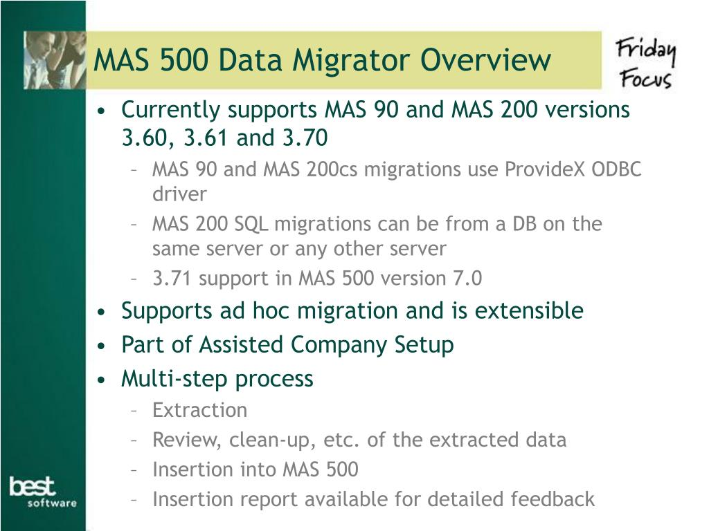 MAS 500 Data Migrator Overview