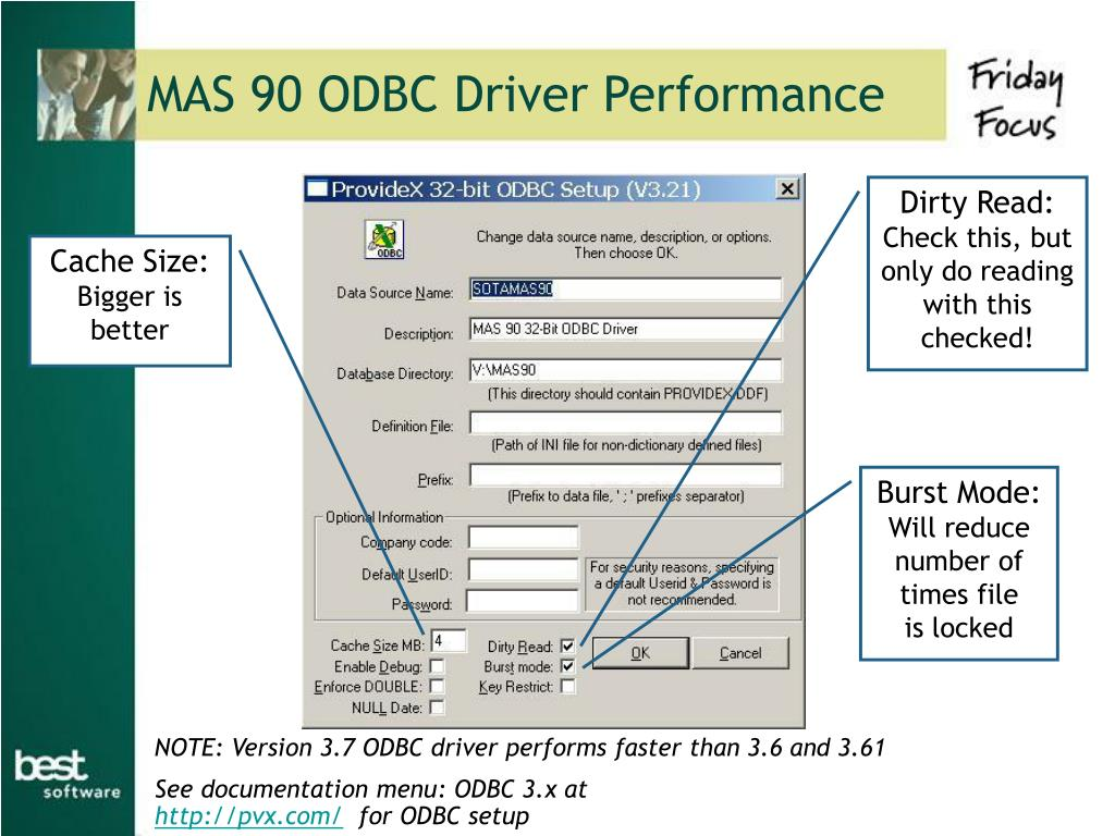 MAS 90 ODBC Driver Performance