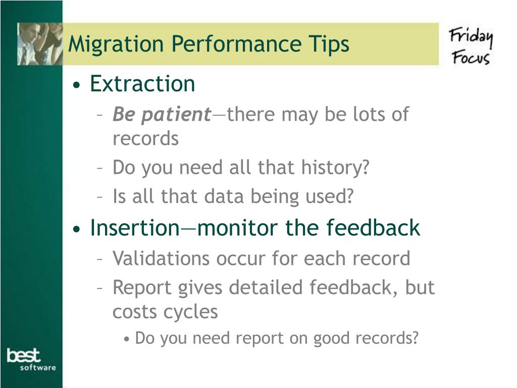Migration Performance Tips