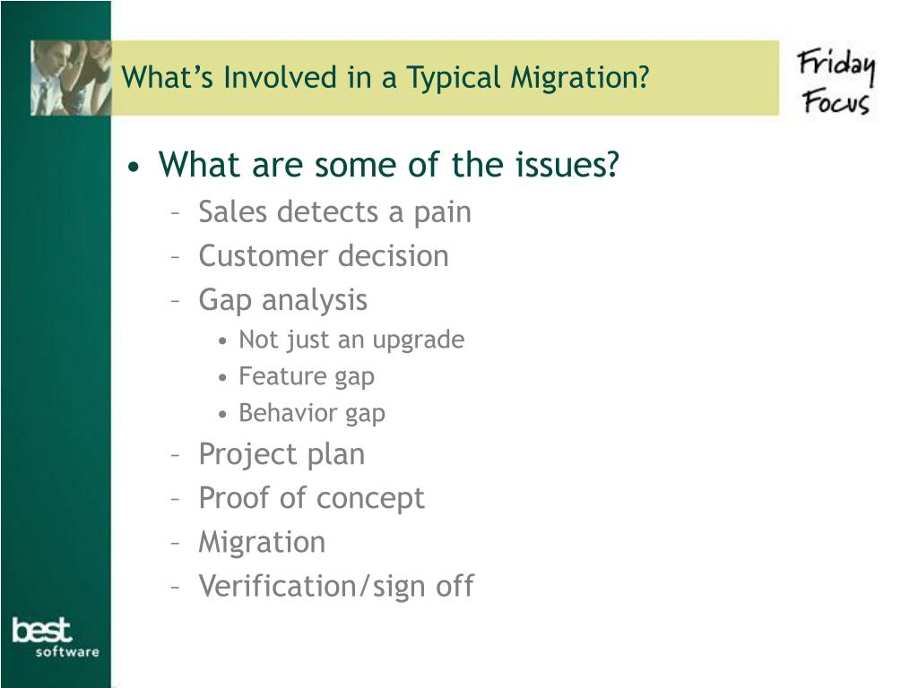 What's Involved in a Typical Migration?