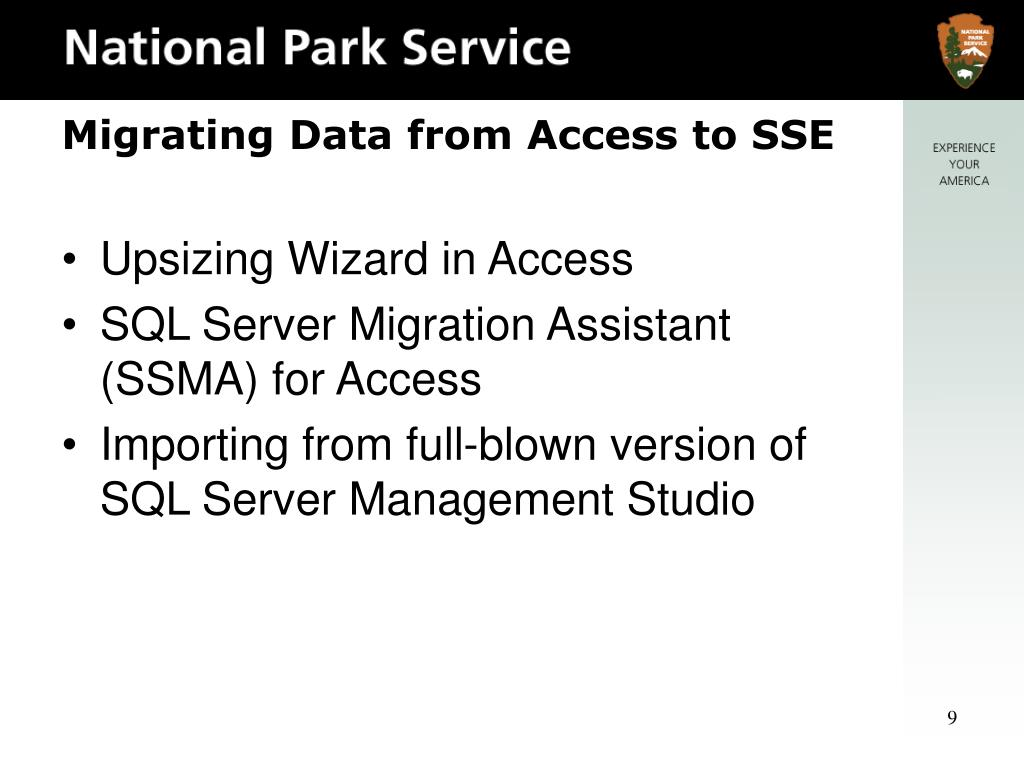Upsizing Wizard in Access