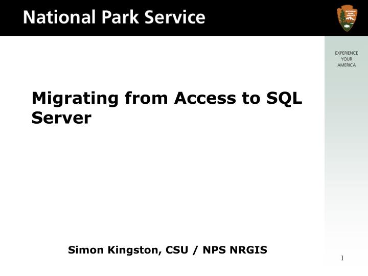 Migrating from access to sql server