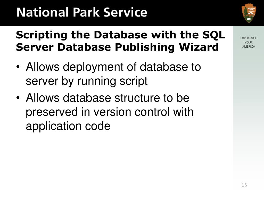 Allows deployment of database to server by running script