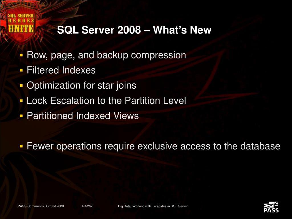 SQL Server 2008 – What's New