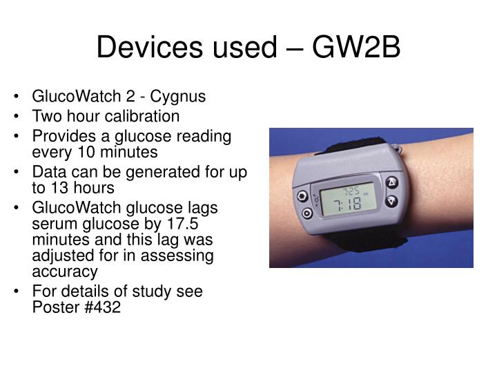 Devices used – GW2B