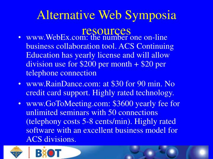 Alternative Web Symposia resources