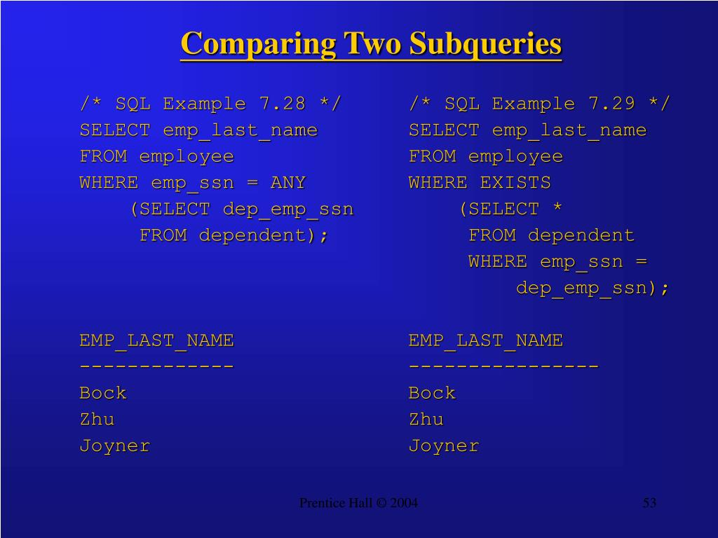 Comparing Two Subqueries