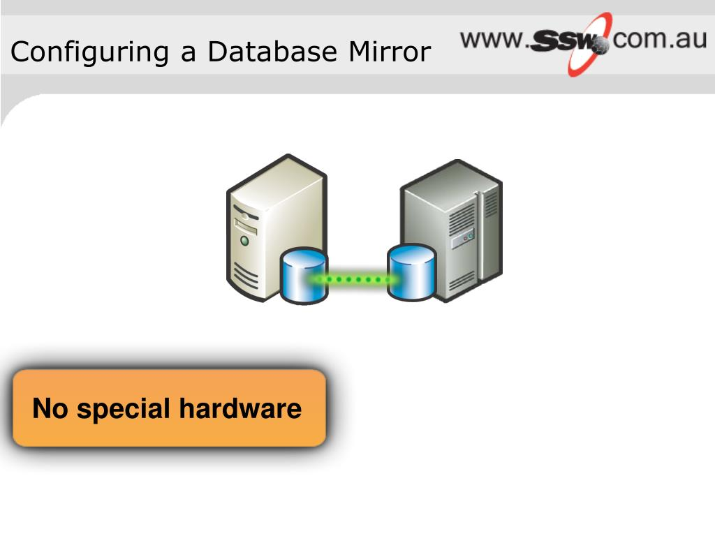 Configuring a Database Mirror