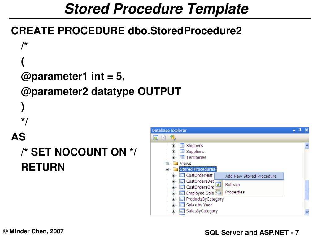 Stored Procedure Template