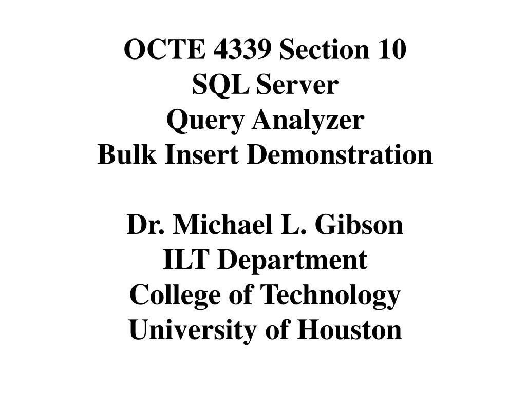 OCTE 4339 Section 10