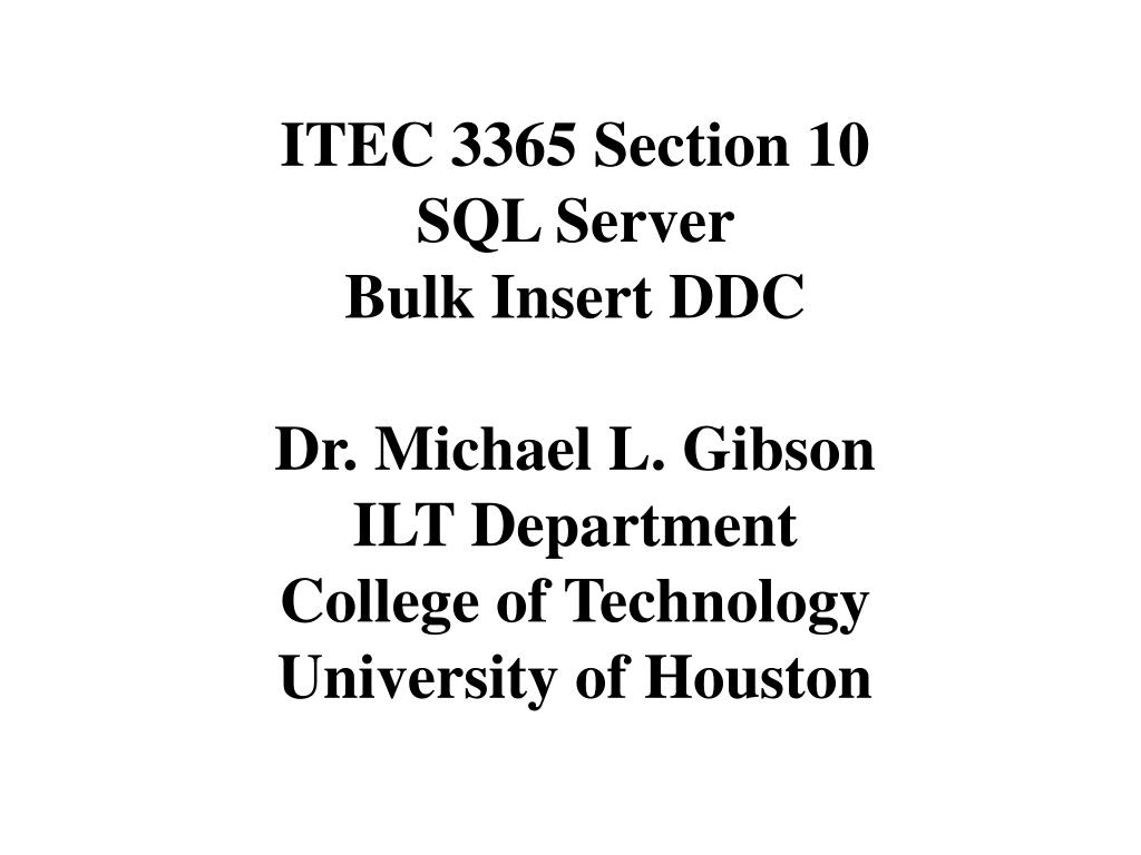 ITEC 3365 Section 10