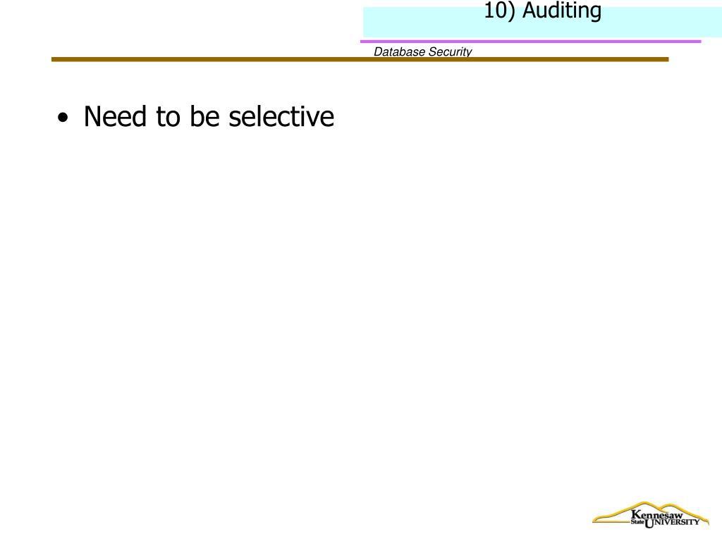 10) Auditing