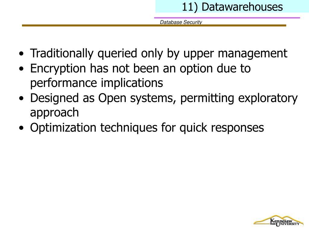 11) Datawarehouses
