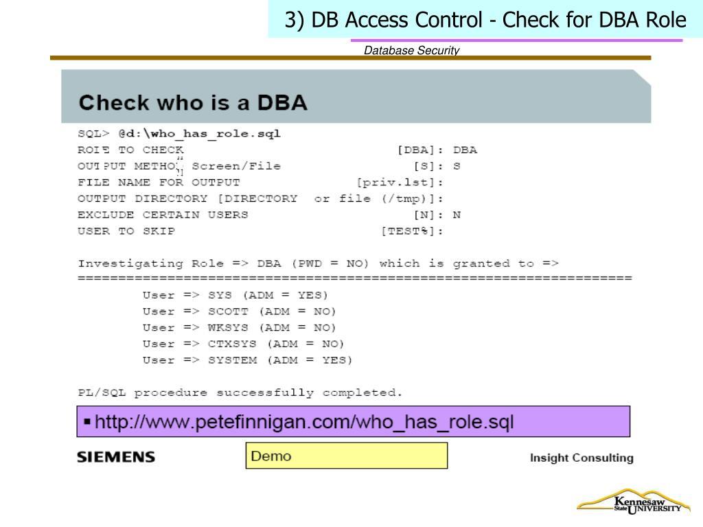 3) DB Access Control