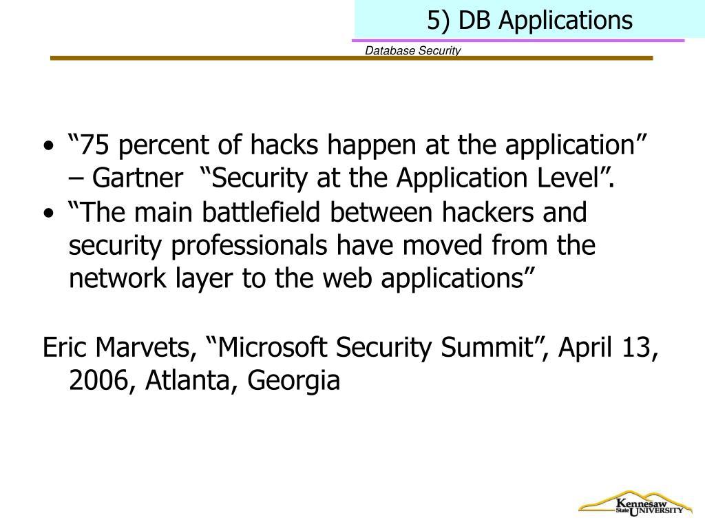 5) DB Applications