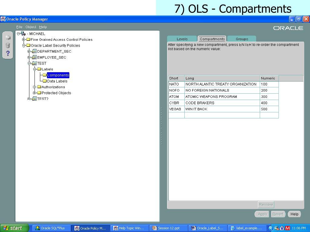 7) OLS - Compartments