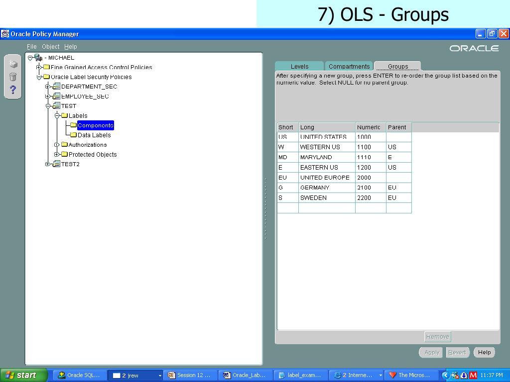 7) OLS - Groups