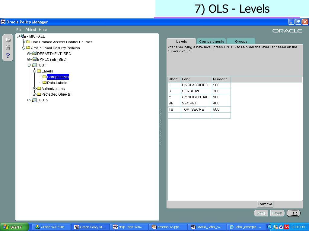 7) OLS - Levels