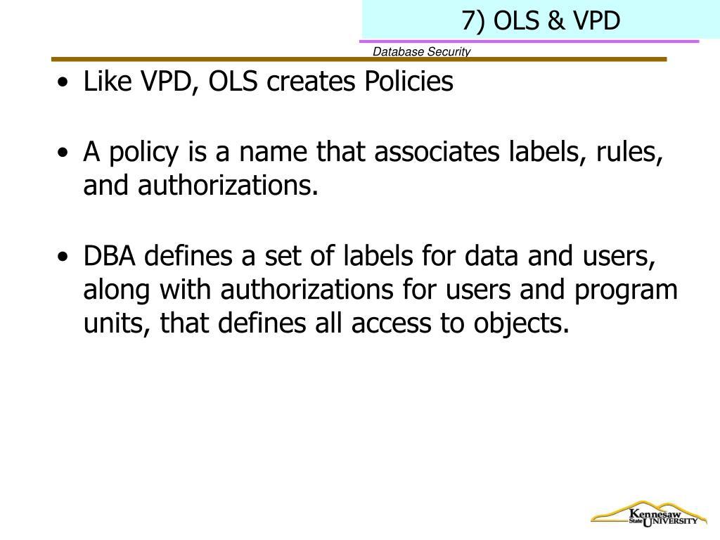 7) OLS & VPD