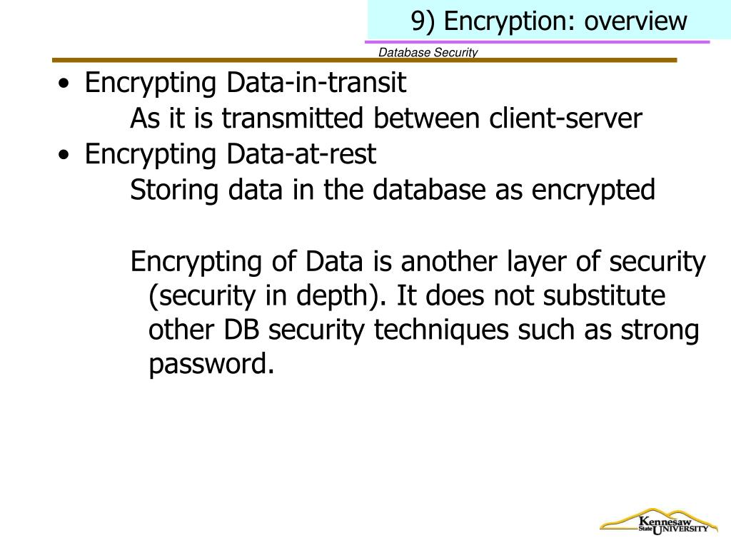 9) Encryption: overview