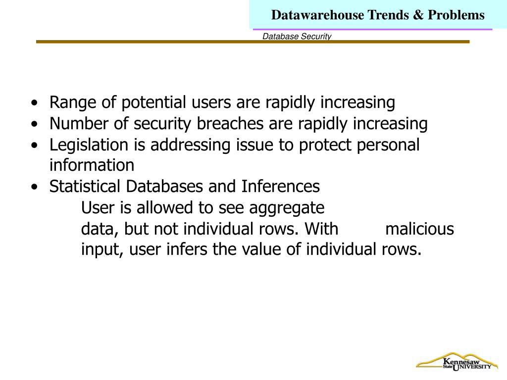 Datawarehouse Trends & Problems