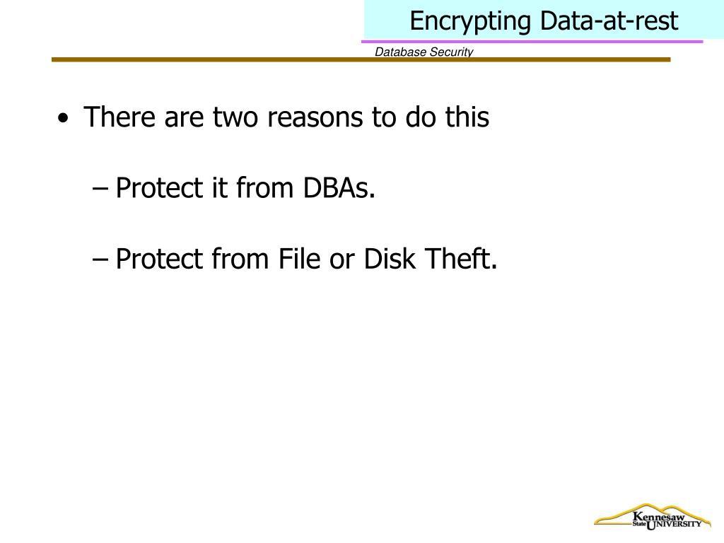 Encrypting Data-at-rest