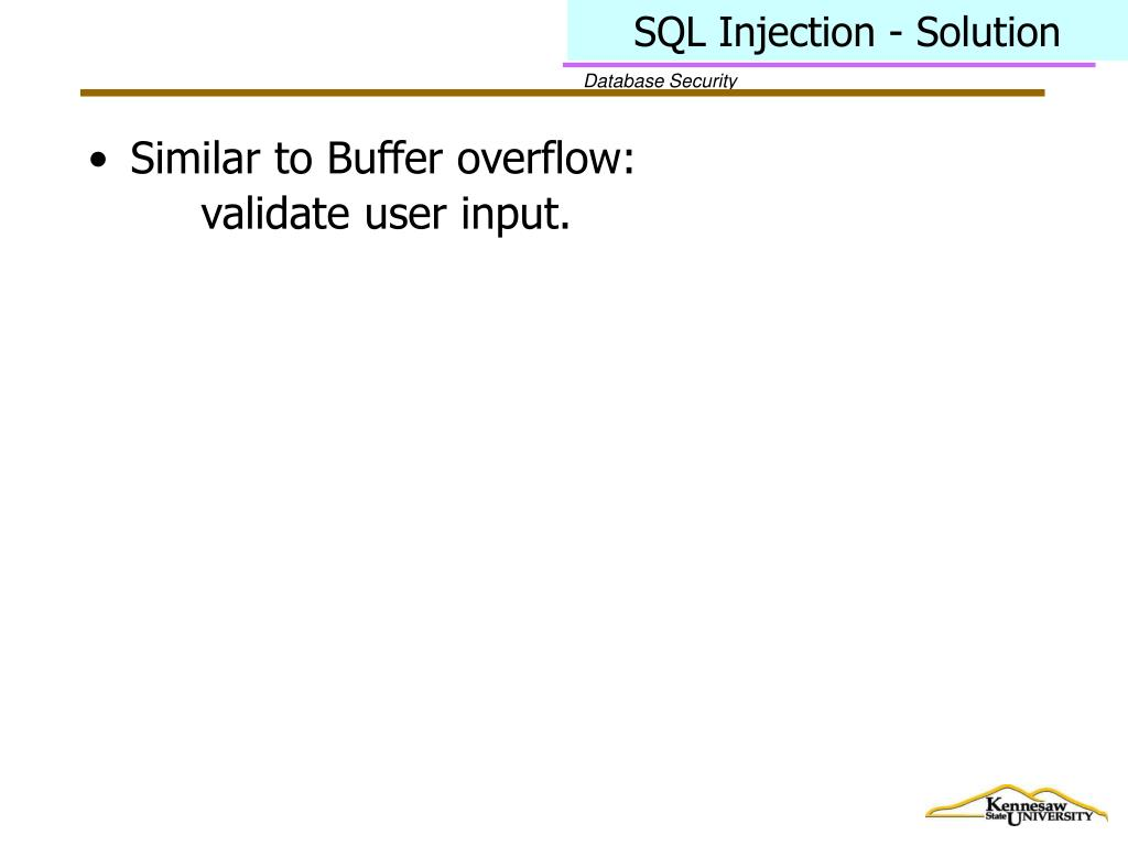 SQL Injection - Solution