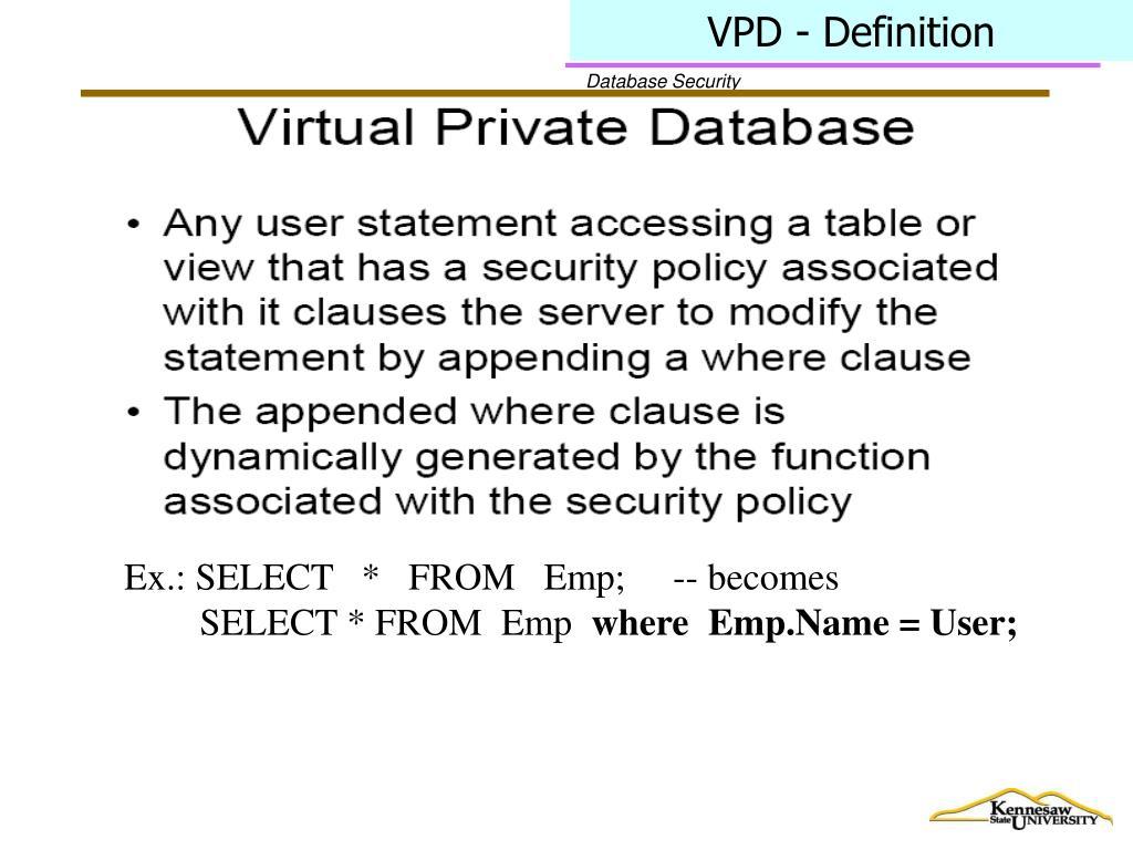 VPD - Definition