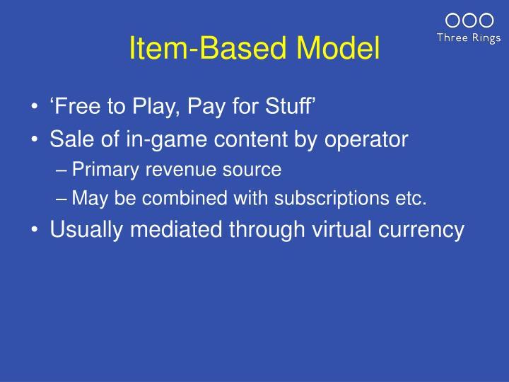 Item-Based Model