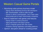 western casual game portals