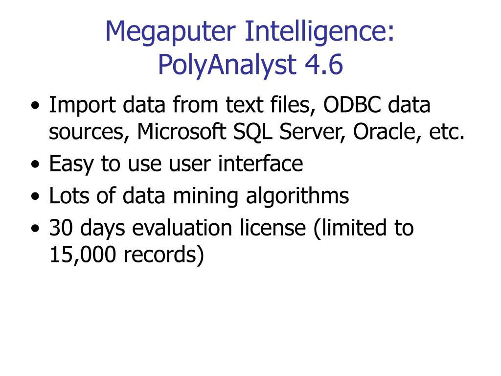 Megaputer Intelligence: