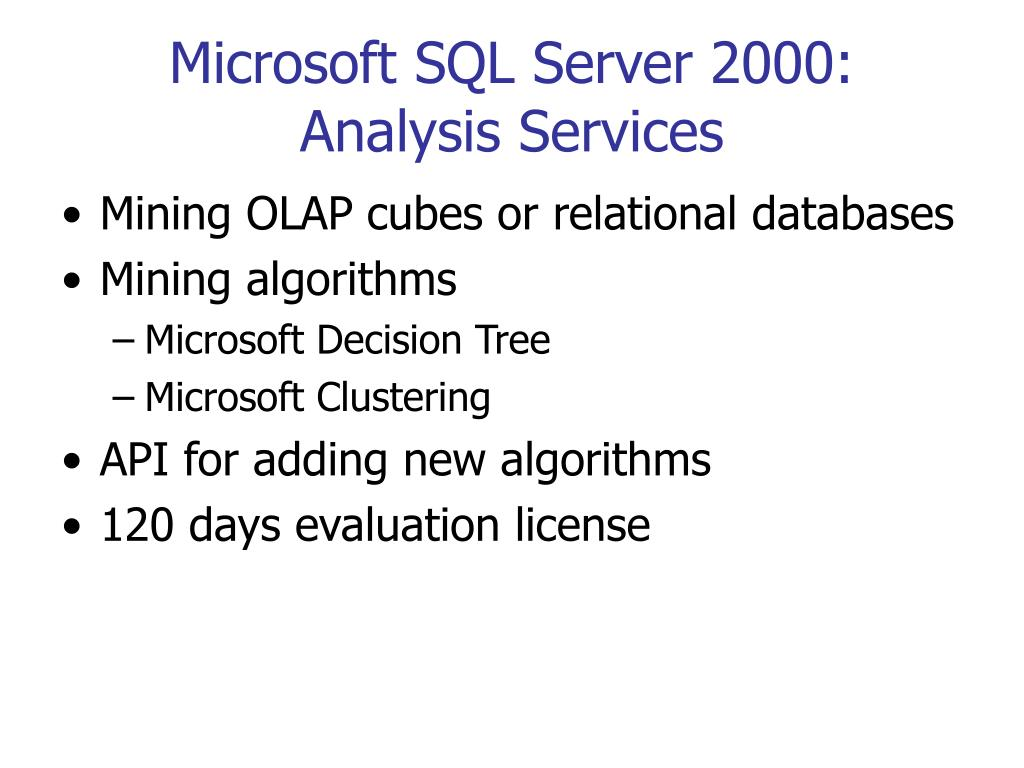 Microsoft SQL Server 2000: Analysis Services