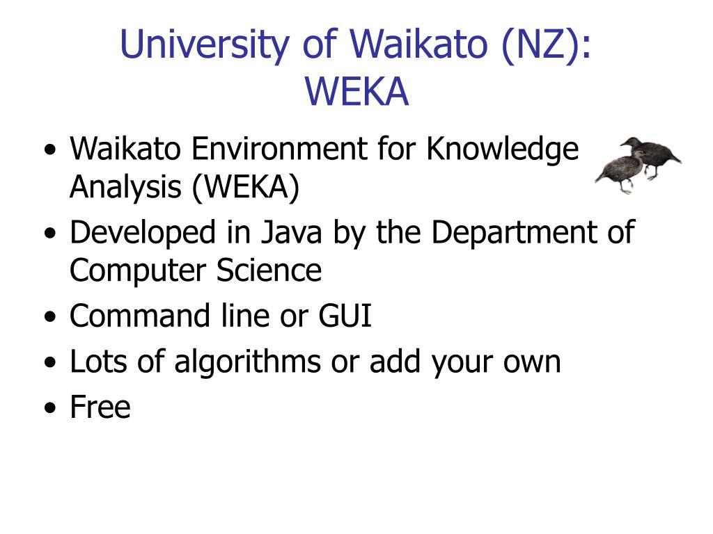 University of Waikato (NZ):
