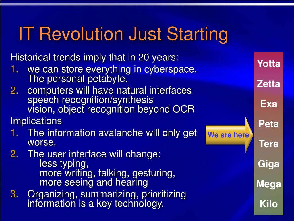 IT Revolution Just Starting