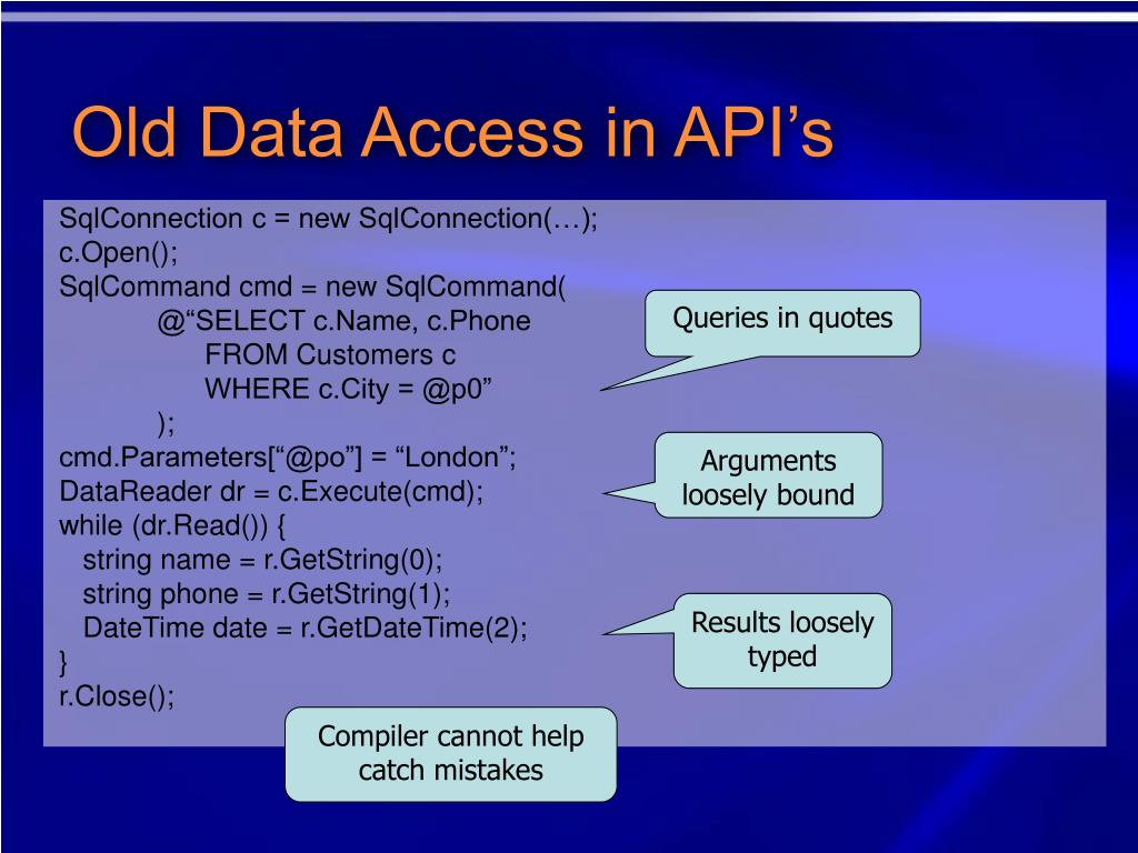 Old Data Access in API's