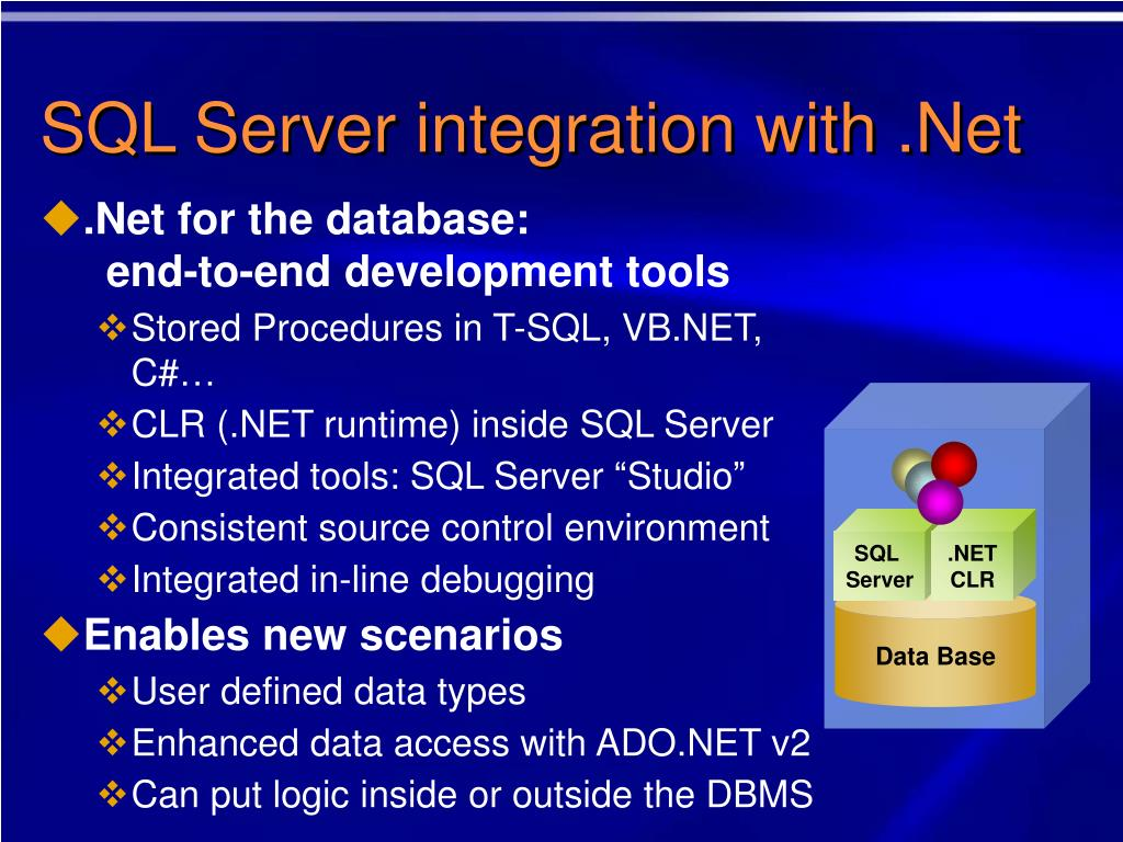 SQL Server integration with .Net