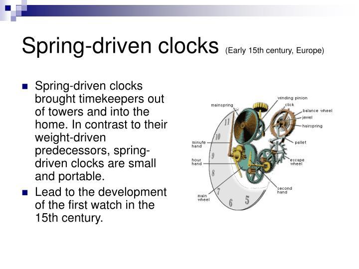Spring-driven clocks