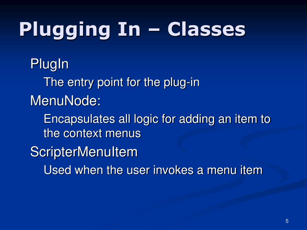 Plugging In – Classes