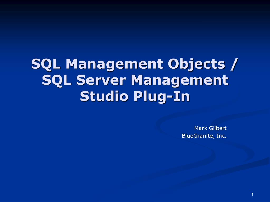 SQL Management Objects /